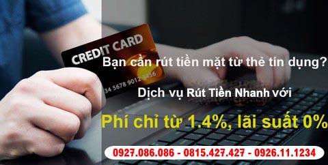 rút tiền mặt từ thẻ tín dụng phí thấp nhất